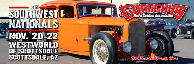 Goodguys 18th Southwest Nationals, November 20-22, 2015 at Westworld