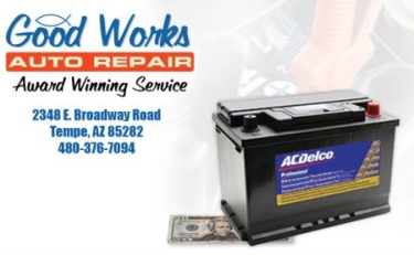 Lifetime Warranty on Batteries! | Good Works Auto Repair