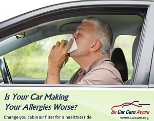 Can Your Car Make Your Allergies Worse?