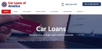Car Loans of America Launches New Website
